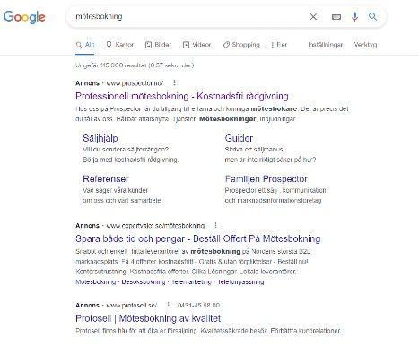 google ads for motesbokning