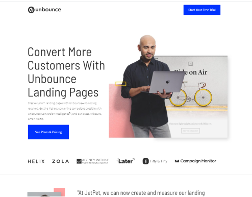 optimize landing pages with unbounce